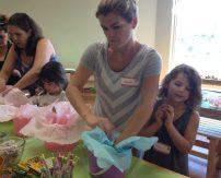 Arranging Easter Baskets