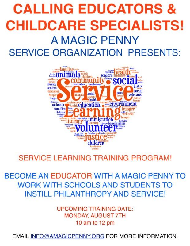 service learning teacher flyer